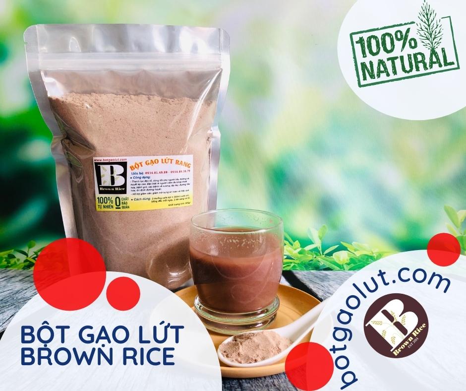 bột gạo lứt Brown Rice